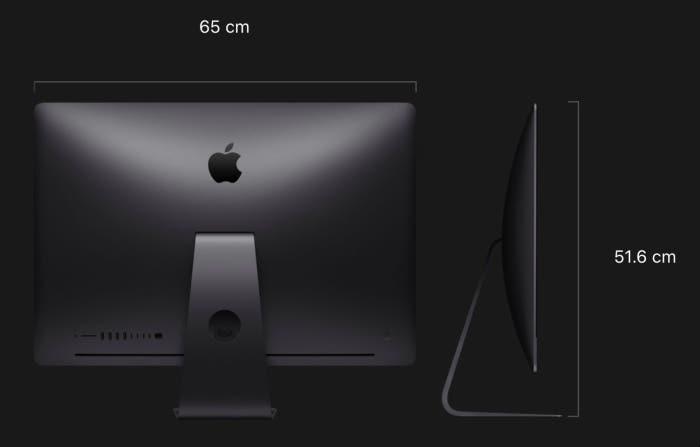 iMac Pro 2018 Altura y anchio